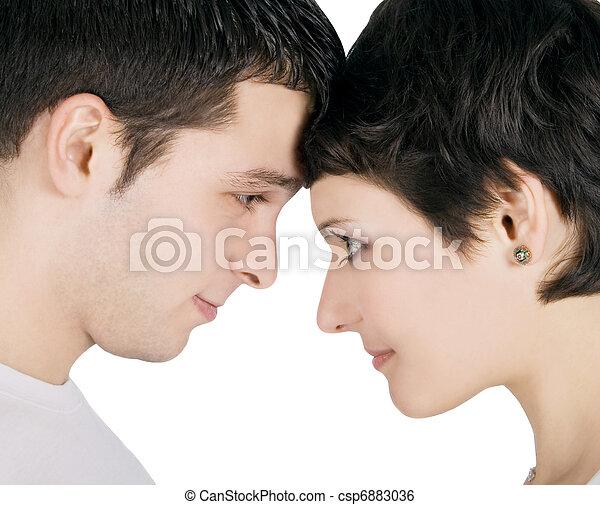 Profil Couple Amour Jeune Sourire