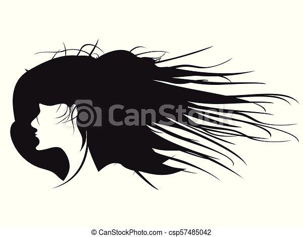 Profil Fryzura Kobieta Czarnoskóry Wektor