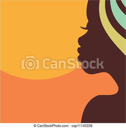 Gesichtsprofil einer Afrikanerin - csp11143338