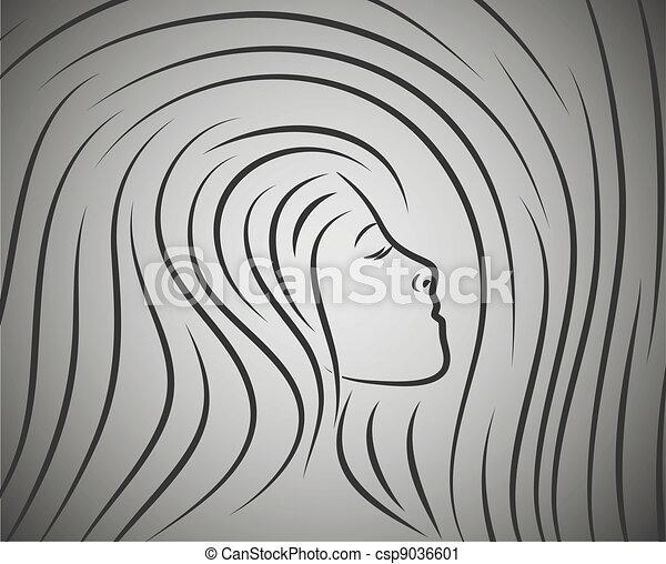 profil, girl - csp9036601