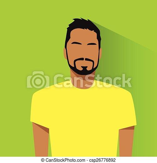 profil, hispanique, avatar, portrait, mâle, désinvolte, icône - csp26776892