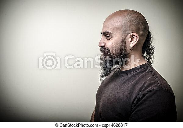profil homme barbu profil gris barbu isol fond homme photographie de stock rechercher. Black Bedroom Furniture Sets. Home Design Ideas