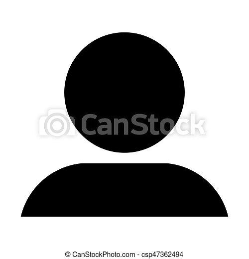 Profil ic ne illustration personne vecteur avatar homme glyph utilisateur - Profil dessin ...