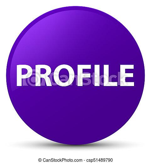 profil, lila, taste, runder  - csp51489790