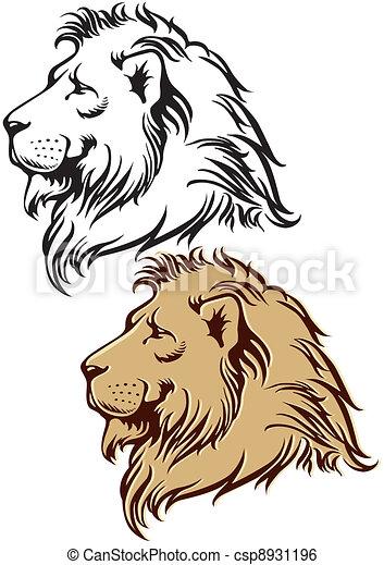 Profil lion - Profil dessin ...