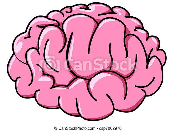 profil, mózg, ilustracja, ludzki - csp7002978