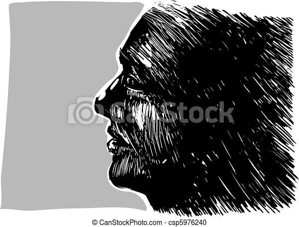 profil, mann - csp5976240