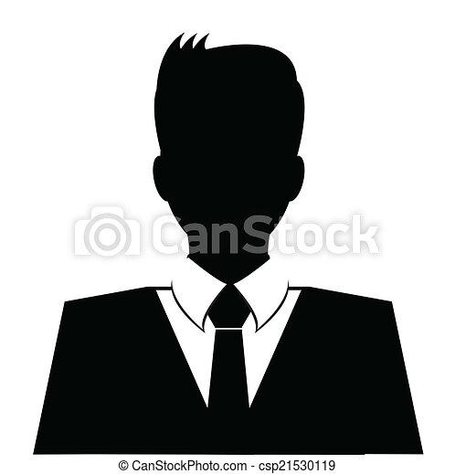 Business Avatar Profil in schwarz - csp21530119