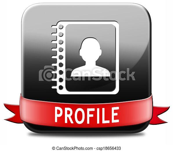 profil, taste - csp18656433