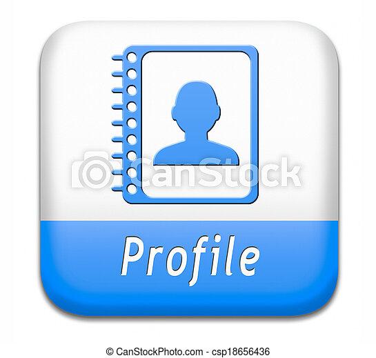 profil, taste - csp18656436