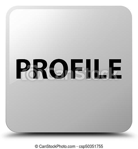Profil weißer Quadratknopf - csp50351755