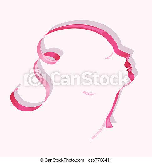Weibliches Profilband - csp7768411