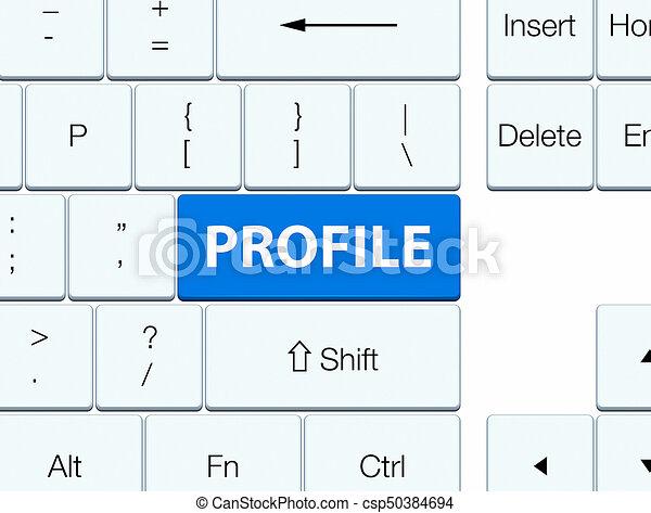 Profile blue keyboard button - csp50384694