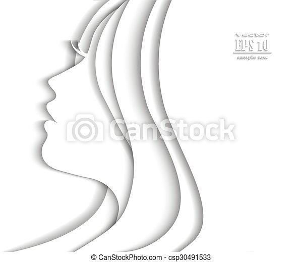 Profile Face Of Beautiful Young Woman Woman Profile Beauty
