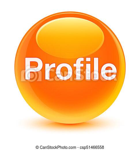 Profile glassy orange round button - csp51466558