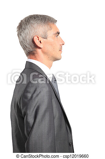 profile of a middle aged business man - csp12019660