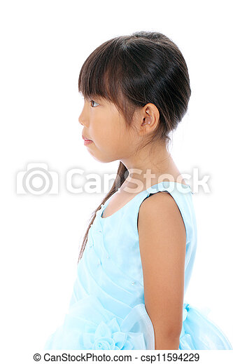 Profile Of Little Asian Girl Csp11594229