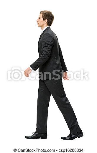 Profile of walking business man - csp16288334
