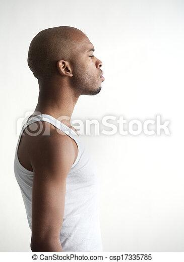 Profile portrait of a black man - csp17335785