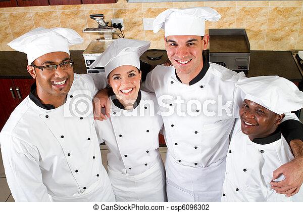 profissional, cozinheiros, grupo - csp6096302