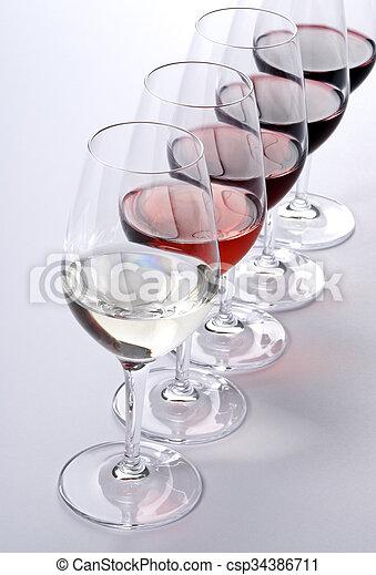 profissional, degustação vinho - csp34386711