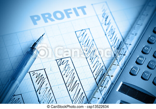 Profit bar chart pen and calculator shallow dof ccuart Image collections