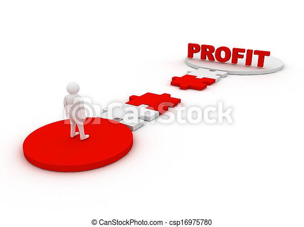 profit, concept - csp16975780