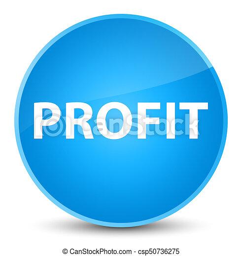 Profit elegant cyan blue round button - csp50736275