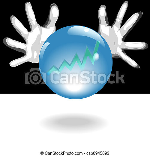 Profit Future Crystal Ball In Hands - csp0945893