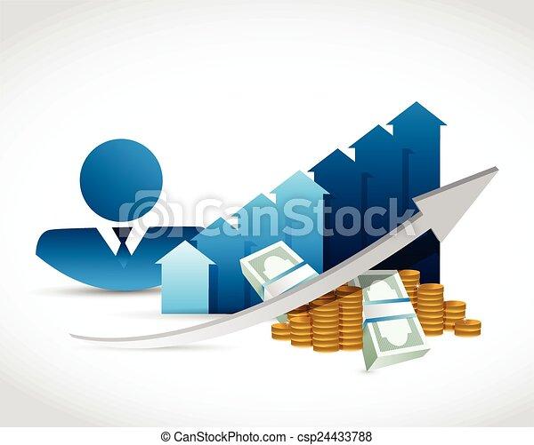 profit, pourcentages, professionnels - csp24433788