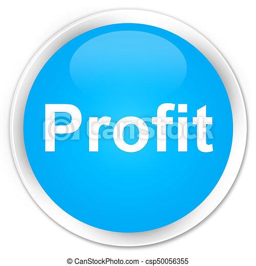 Profit premium cyan blue round button - csp50056355
