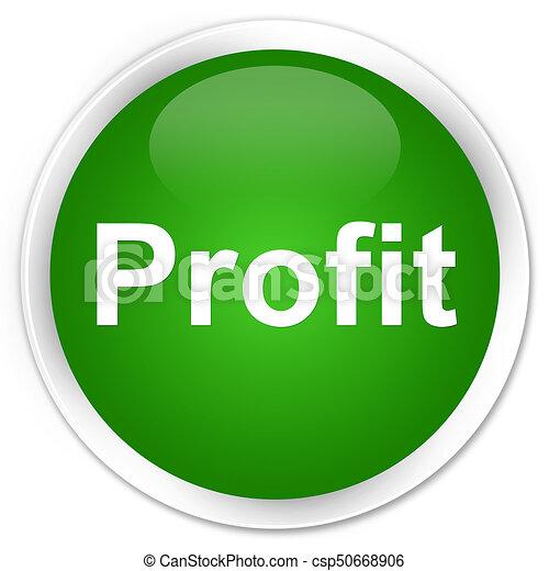 Profit premium green round button - csp50668906