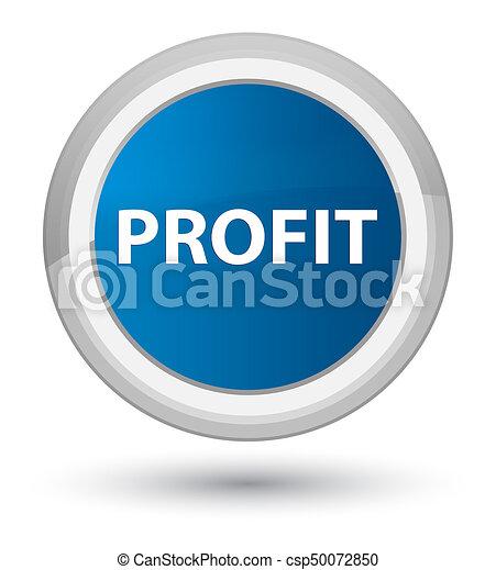 Profit prime blue round button - csp50072850