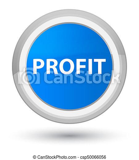 Profit prime cyan blue round button - csp50066056
