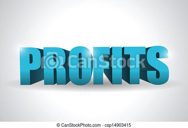 profits text illustration design - csp14903415