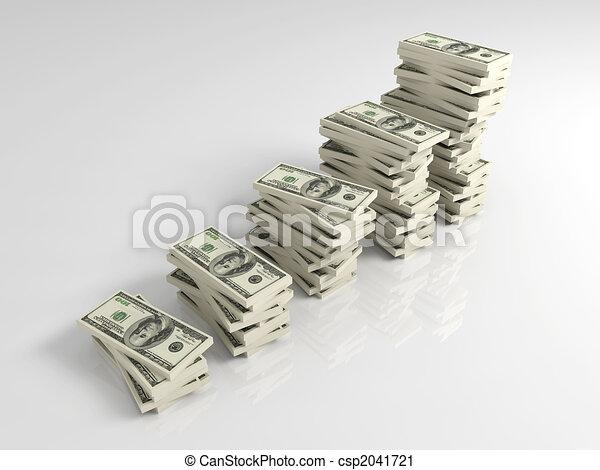 profitto, crescita, dollaro - csp2041721