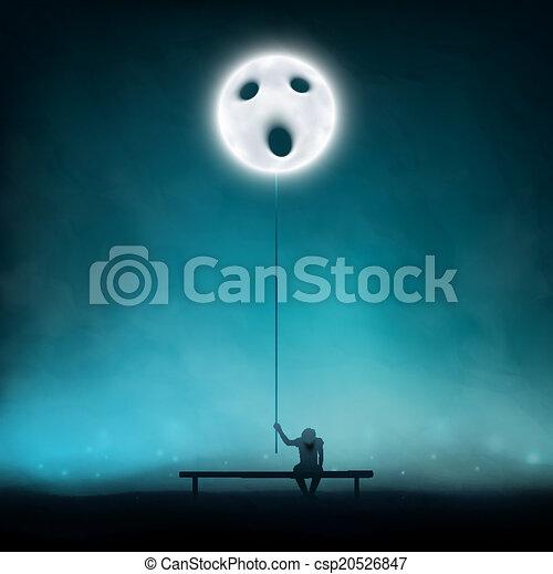 profondo, depressione - csp20526847