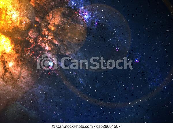 Campo estelar en el espacio profundo - csp26604507