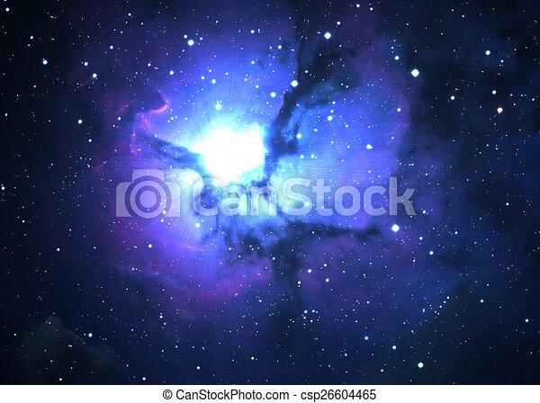 Campo estelar en el espacio profundo - csp26604465