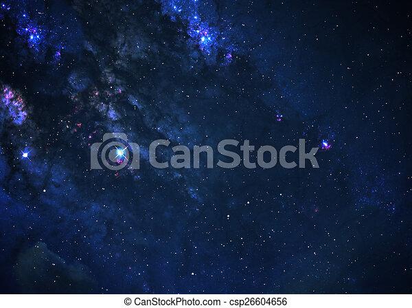 Campo estelar en el espacio profundo - csp26604656