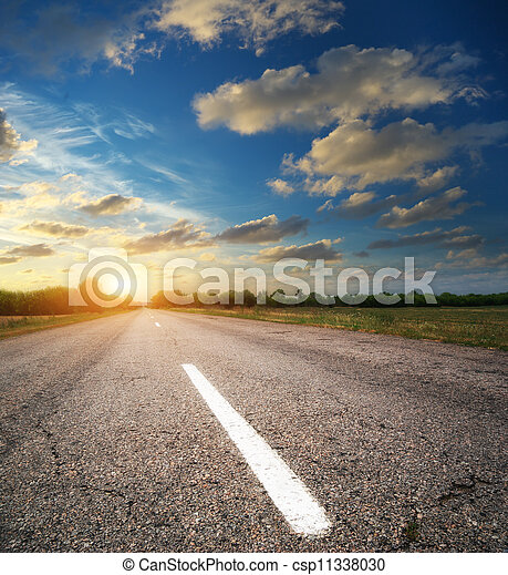 profundo, estrada - csp11338030