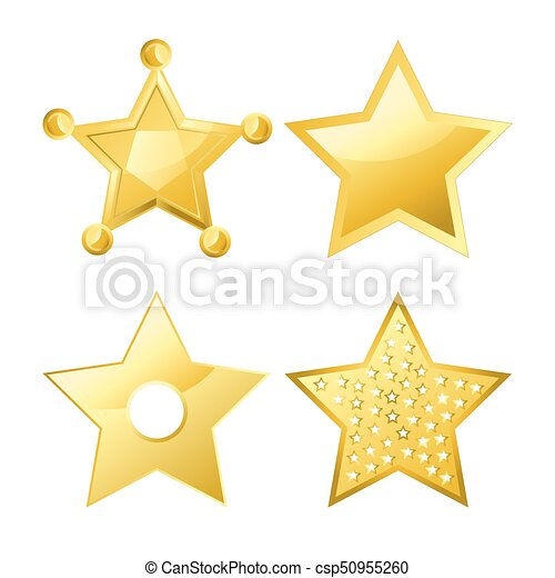 progetta, cinque-puntuto, liscio, superficie, luminoso, stelle, parecchi, baluginante - csp50955260