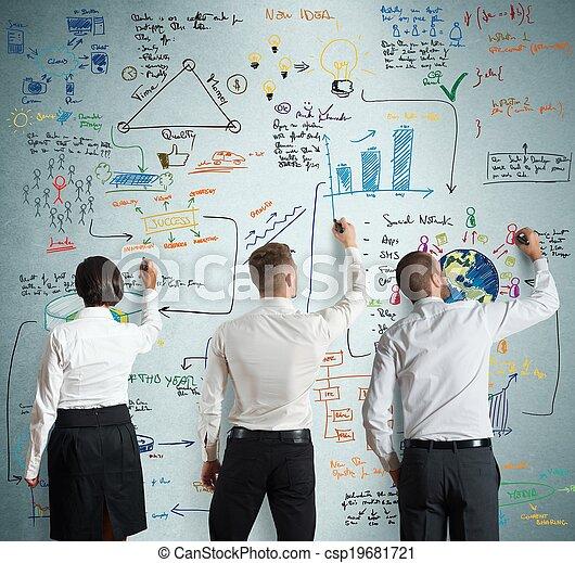 progetto, nuovo, lavoro squadra, affari - csp19681721