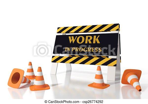 progrès, travail - csp26774292