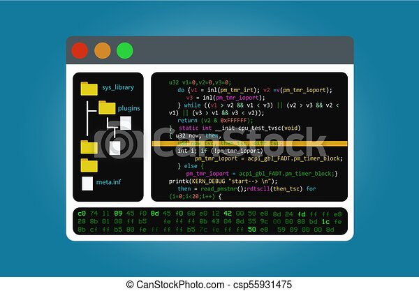 Program code editor, the integrated software development environment  IDE