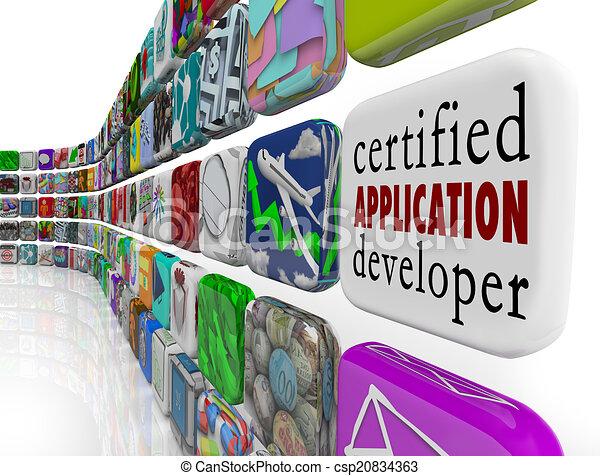 Solicitud certificada para desarrollar aplicaciones de software de programación - csp20834363