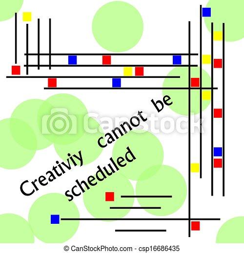 La creatividad no puede ser programada - csp16686435