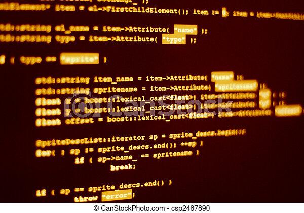 programm, code, edv - csp2487890