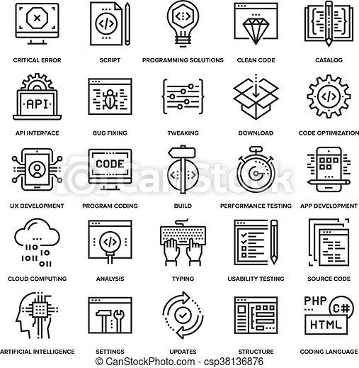 Programmcode-Icons - csp38136876