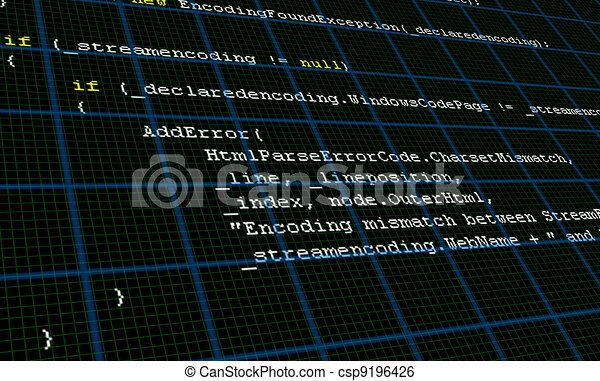 Programming Code Source Background Texture - csp9196426